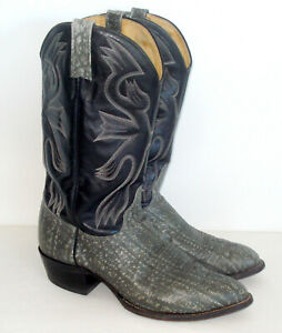 11-5-D-J-Chisolm-men-039-s-Handcrafted-Leather-Shark-Western-Cowboy-Boots-USA-Made