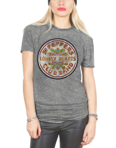 The Beatles T Shirt Sgt Pepper Abbey Road Official Apple Womens New Skinny Fit