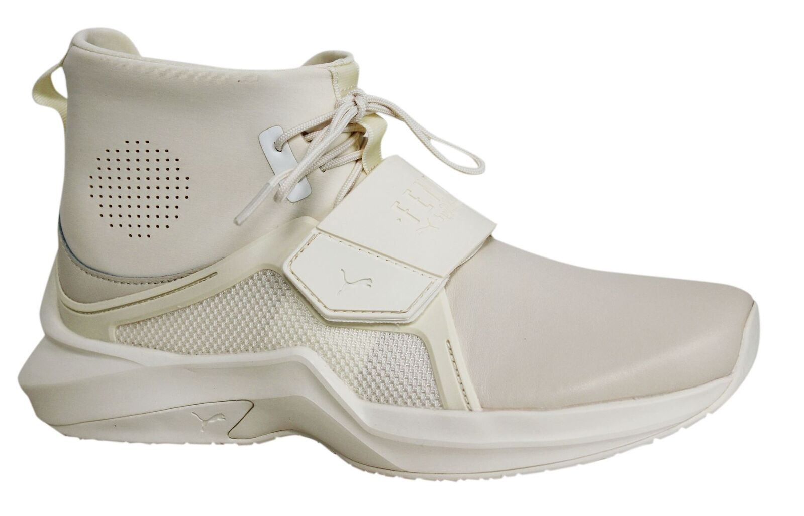 Puma Fenty By Rihanna Off White Leather Textile Womens The Trainer 190398 04 M1