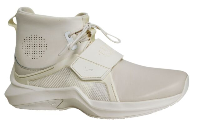 Puma Fenty By Rihanna Off White Leather Textile Womens The Trainer 190398  04 M1 c1c2d95dc