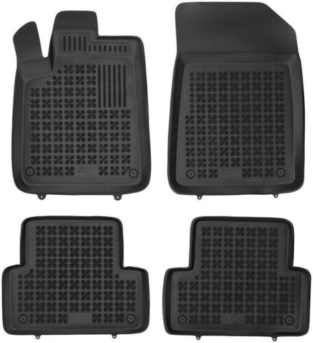 4-teilige schwarze Gummifußmatte für CITROEN C5 Bj 2001-2008