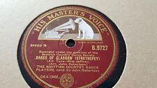 SCOTTISH COUNTRY DANCE PLAYERS RAKES OF GLASGOW & MRS McLEOD OF RAASAY HMV B9727