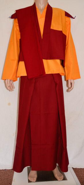 TIBETAN BUDDHISM BUDDHIST EXTRA LARGE LAMA ROBE MONK ROBE DRESS SET NEPAL