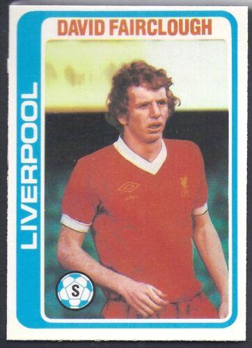 DAVID FAIRCLOUGH PALE BLUE BACK 1979 TOPPS-FOOTBALL -#246- LIVERPOOL