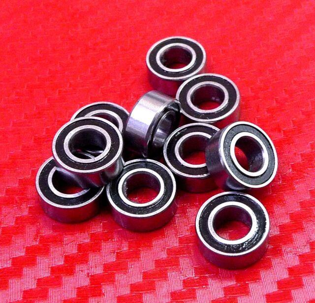 "50 PCS 3//16/"" x 1//2/"" x 0.1960/"" R3-2RS Metal Rubber Sealed Ball Bearing R3RS"