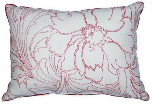 35cm x 50cm Bronte Red Floral Cushion Cover