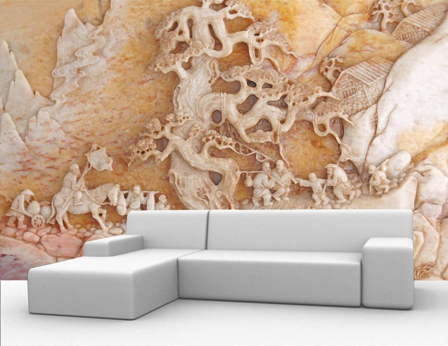 3D Trunk Paint 557 Wallpaper Murals Wall Print Wallpaper Mural AJ WALL AU Lemon
