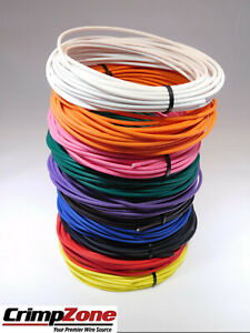 AUTOMOTIVE WIRE 12 AWG HIGH TEMP TXL STRANDED COPPER WIRE RED 25 FT COIL USA