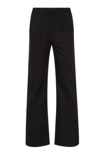Ladies Linen Beach Yoga Pyjama Wide Leg on the Ankle  Trousers Black White