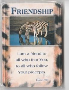 Details about 15 Christian Prayer Cards FRIENDSHIP Bible Scripture Verse  Psalm 119:63