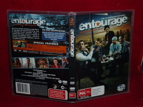 1 of 1 - ENTOURAGE: THE COMPLETE SECOND SEASON - 3-DISC SET (DVD, MA 15+) FREE POST