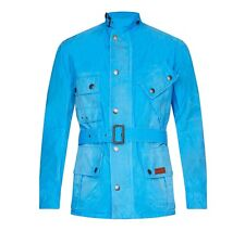Barbour Mens Casual Jackets Washed Geelong Casual Jacket MCA0324BL75 Fresh Blue