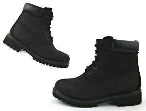 Timberland-Classic-6-034-Waterproof-Boots-Black-Mens-5-5M-Womens-7-5-Worn-Once