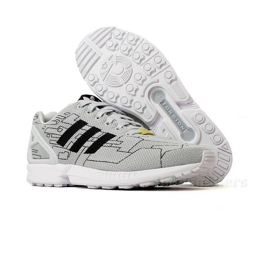 Adidas ZX Flux Weave Men's Originals Running Cross Training shoes M21363 Grey Blk