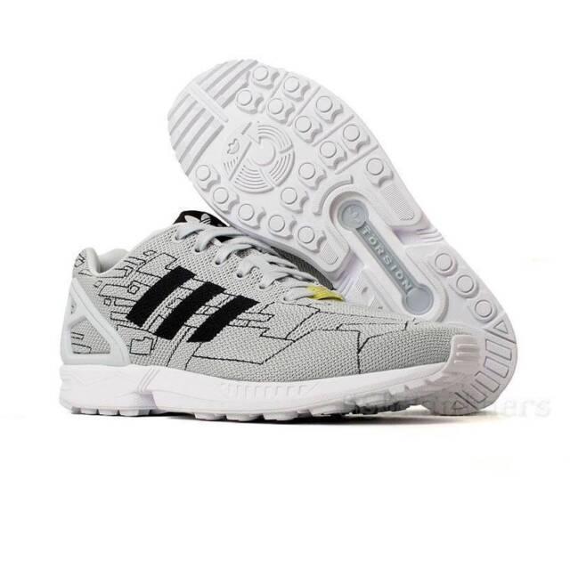 sports shoes a168d 39769 Adidas ZX Flux Weave Men's Originals Running Cross Training Shoe M21363  Grey/Blk