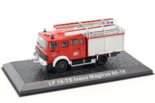 Iveco Magirus 90-16 lf 16-ts bomberos Kaufbeuren rojo 1:72 Altaya