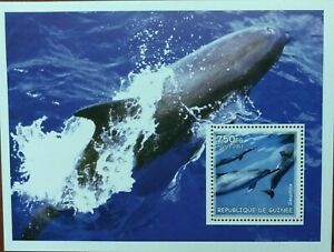 121.GUINEA  2002 STAMP M/S DOLPHINS . MNH