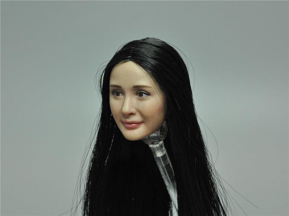 Asian Straight Hair Headsculpt for VERYCOOL FX06A VC3.0 Asia  Girl Yang Mi 12''  acquista marca