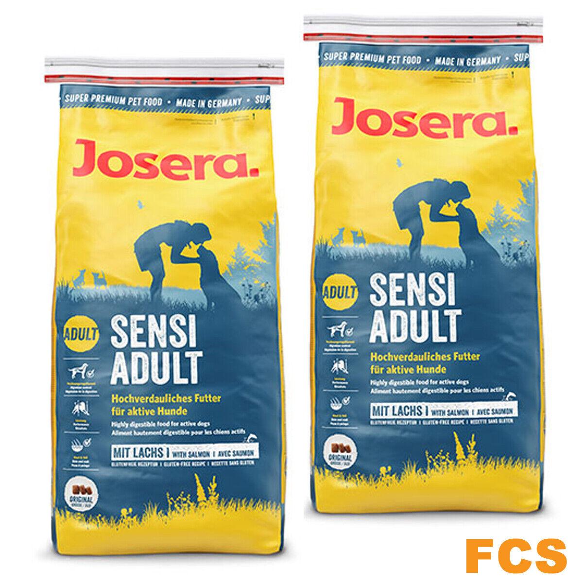 2x15kg Josera Sensi Adult Hundefutter,Schonkost für aktive empfindliche Hunde
