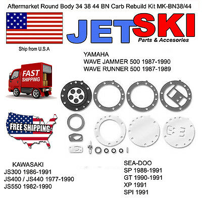Mikuni BN Carb Rebuild Kit Kawasaki Jet-Ski JS 300 440 550 BN38 BN44 BN 38 44