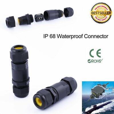 Connettore cavo impermeabile scatola di giunzione da 6 pezzi Scatola di giunzione IP68 Cavo di terra a 3 pin Connettore per diametro del cavo /Ø1-13 mm