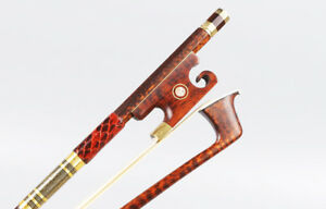 Yinfente-Snakewood-Violin-Bow-4-4-Flame-Advance-Model-Baroque-Style-Eyes-Inlay