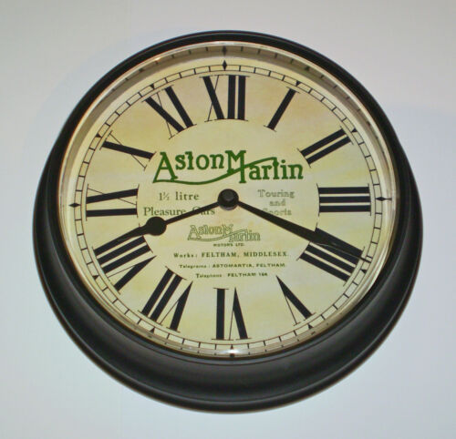 1920-30/'s Livery Early Feltham Days. Aston Martin Vintage Style Wall Clock