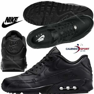 dirt cheap check out new photos NIKE AIR MAX 90 CUIR 302519 001 CHAUSSURE POUR HOMME NOIR SNEAKER ...