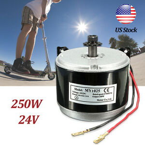 250W-24V-DC-Electric-Motor-Brushed-2750RPM-Chain-For-E-Bike-Scooter-MY1025-USA