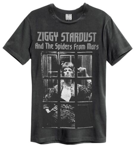 """David Bowie /""""The Rise and Fall/"""" charbon T-Shirt-Amp-NEUF!"""