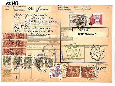 Az323 1980 Switzerland High Values Muralto *insured Mail* Card Italy Pts Uitgebreide Selectie;