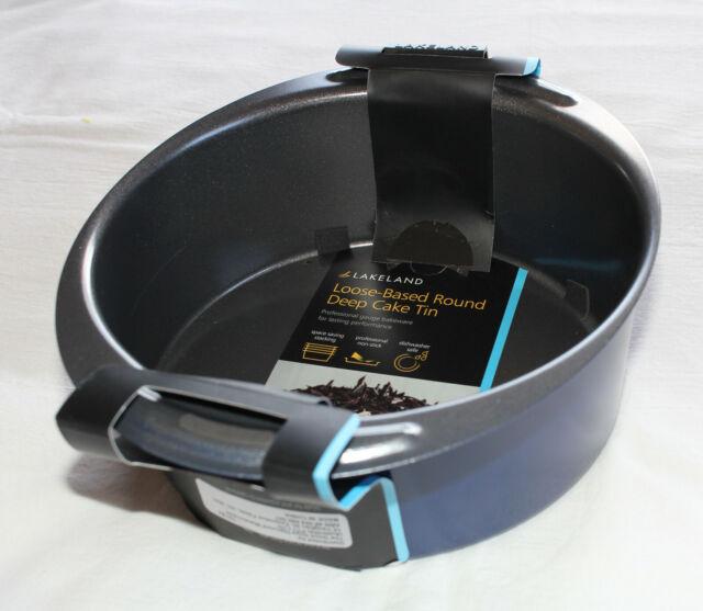 Lakeland 70183 20cm Loose Based Round Non Stick Carbon Steel Deep Cake Tin