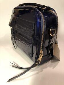 Womens Clutch Purse Vegan Handbag Travel Makeup Bag SALE Blue Arrows Zipper Pouch