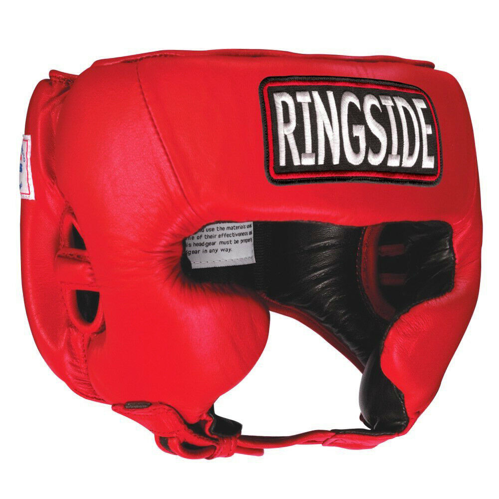 Ringside Competition Boxing Headgear With Cheeks -  Red  be in great demand