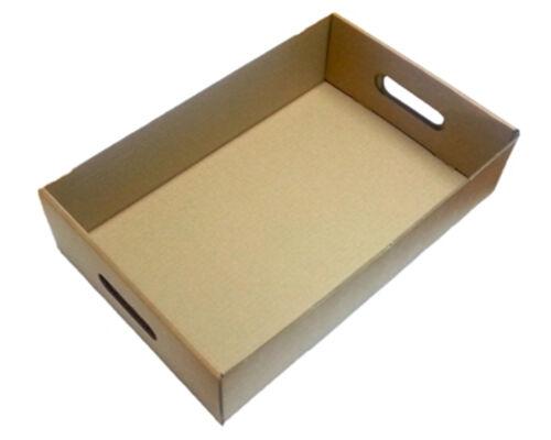 50 Die Cut Bandejas De Cartón ideal para beber Cañas Frutas Vegetales Cajas