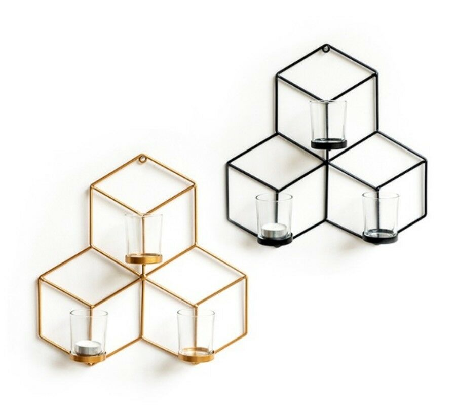 Nordic Candleholder Creative Metal Wall Mount Photographic Props