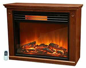Lifesmart electric fireplace heater large room infrared Heating large spaces