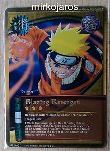 Details about BLAZING RASENGAN Unlimited [Light Play] TCJ-296 Super Rare SR  Naruto Bandai