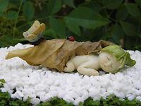 Miniature Figurine Fairy Garden Sleeping Leaf Fairy Baby With Butterfly