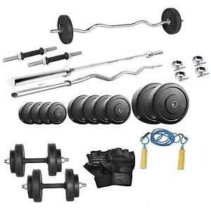 Protoner 26 Kg With 4 Feet Straight Rod 3 Feet Curl Rod Home Gym Package