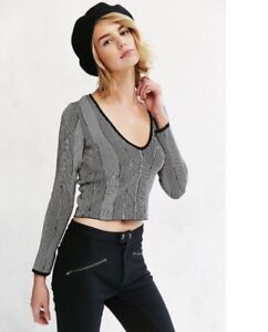 Urban Outfitters Silence Noise Darcy Crop Sweater Top Sz Xs Ebay
