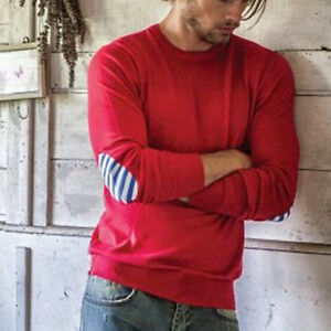 Sweater Uomo Maglia Rosso Basic w a Lunga Raw S17m001 Toppe R 0094 Manica qwa4RS