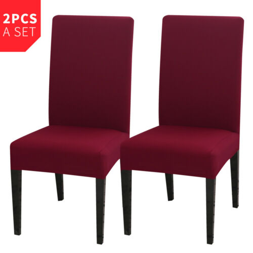 Stretch Dining Chair Covers Slipcovers Covers US Removable Chair Protective