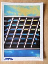 FIAT RANGE 1986-87 UK Mkt brochure - 126 Panda Uno Strada X1/9 Regata Croma