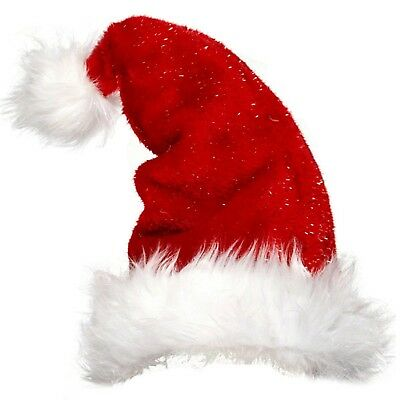 Affidabile Donna Da Uomo Adulti Christmas Natale Peluche Babbo Natale Festivo Costume Cappello-mostra Il Titolo Originale