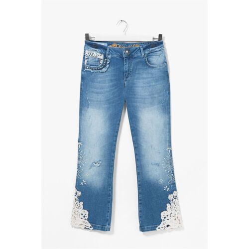 ea1dcb6a64c5 3 Desigual Oferta Original Wash Jeans Light Size 30 Denim Women s New  wP6XqPTBa