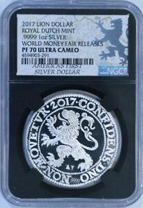 2017-Lion-Dollar-Royal-Dutch-Mint-9999-1-Oz-Silver-NGC-PF70-Ultra-Cameo