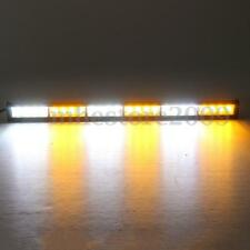 "27"" 24 LED Emergency Traffic Advisor Strobe Flash Light Warning Bar White/Amber"
