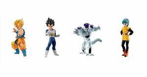 BANDAI Dragon Ball Super HG 03 Gefrierschrank ED Gashapon 4 Set Mini Figur Capsule Toy