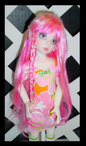 """Doll Wig Has Bangs Monique Gold /""""Adorabel Pixie/"""" Size 8//9 in BLACK"""